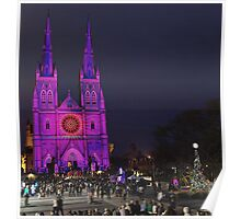 Christmas show at St Mary's Cathedral stands in the centre of Sydney Poster