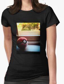 Pokeball Photo design Womens Fitted T-Shirt