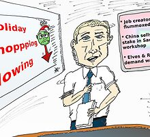 holiday shopping business news cartoon by Binary-Options