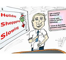 holiday shopping business news cartoon Photographic Print