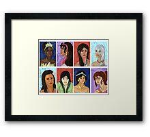 Princesses of color Framed Print