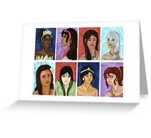 Princesses of color Greeting Card