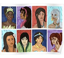 Princesses of color Poster
