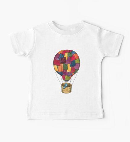 Hot Air Balloon Dog Baby Tee