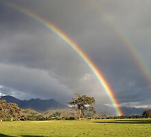 Double Rainbow Foxen Canyon by Cathy L. Gregg
