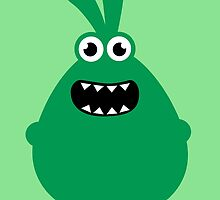 Crazy funny monsters in green by badbugs