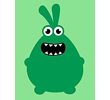 Crazy funny monsters in green Photographic Print