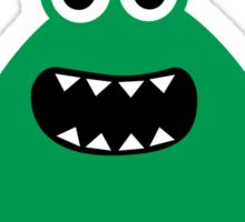 Crazy funny monsters in green Sticker
