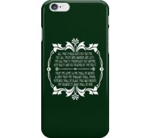 All That Glitters is Gold Does Not Glitter iPhone Case/Skin