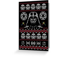Ugly Dark Side Christmas Sweater Jumper Greeting Card