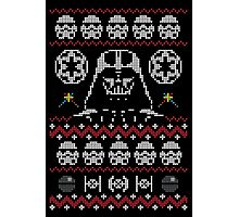 Ugly Dark Side Christmas Sweater Jumper Photographic Print