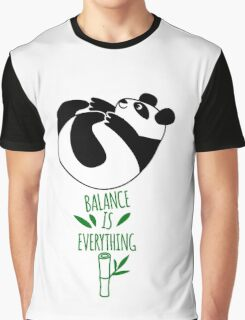Balance Is Everything! Tumbling panda. Graphic T-Shirt