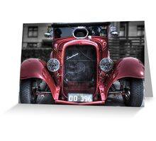 Red street rod Greeting Card