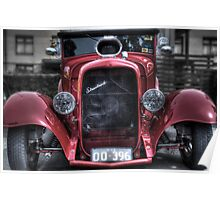 Red street rod Poster