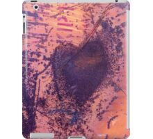 rusting metal with rusty love heart iPad Case/Skin