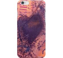 rusting metal with rusty love heart iPhone Case/Skin