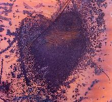 rusting metal with rusty love heart by astralsid