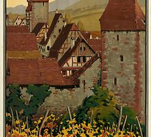 Vintage poster - Riquewihr by mosfunky