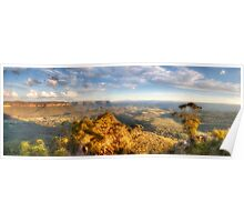 I Love Her Far Horizons - Hargraves Lookout, Blue Mountains World Heritage Area - The HDR Experience Poster
