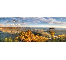 I Love Her Far Horizons - Hargraves Lookout, Blue Mountains World Heritage Area - The HDR Experience Photographic Print