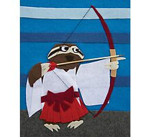 Gracie the Sloth - Shrine Maiden Photographic Print