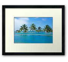 Infinity Pool on Kandooma Island Framed Print