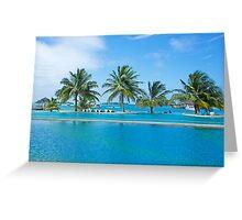 Infinity Pool on Kandooma Island Greeting Card