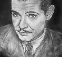 Clark Gable -  young by Elisabeth Dubois