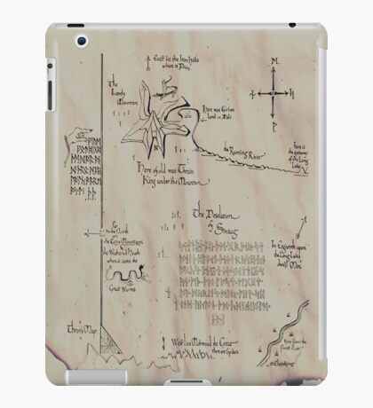 Thror's map iPad Case/Skin