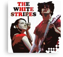 white stripes Canvas Print