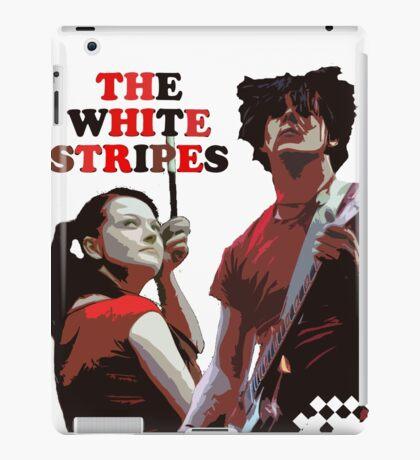 white stripes iPad Case/Skin