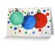 Watercolor Christmas Ornaments Greeting Card