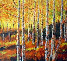 Birkwood in autumn by olivia-art