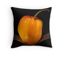 Orange pepper Throw Pillow