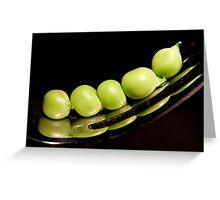 Green peas  Greeting Card