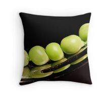 Green peas  Throw Pillow