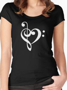 Love the music! Women's Fitted Scoop T-Shirt