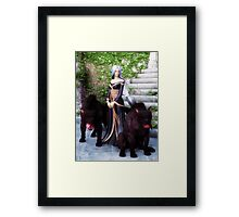 Pack Mistress Framed Print
