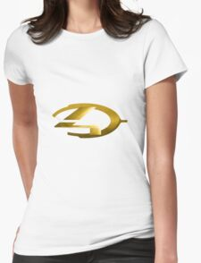 Halo 4 Gold Womens Fitted T-Shirt