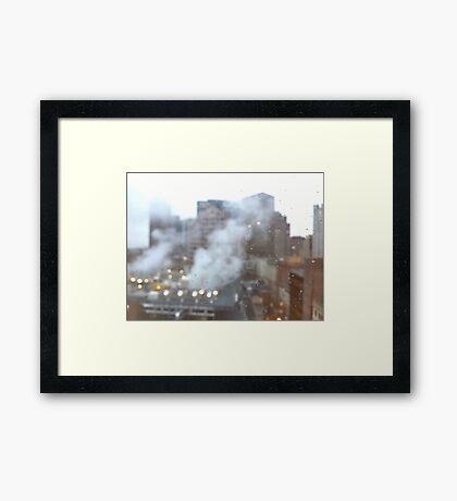 Boston. A city breathing. Framed Print