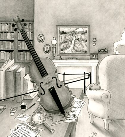 Violin and Sitting-Room Sticker