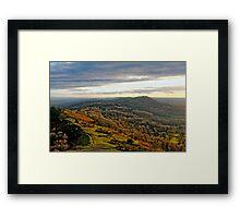 Malvern Hills, a southward view Framed Print
