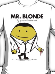 Mr. Blonde (Mr. Men versus Reservoir Dogs) T-Shirt