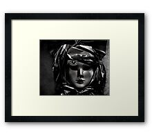 BLANK STARE Framed Print