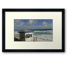 Beach veiw Framed Print