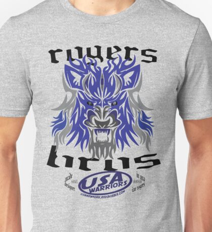 usa warriors wolf by rogers bros Unisex T-Shirt