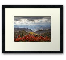 Blue Ridge Parkway Fall Foliage - The Light Framed Print