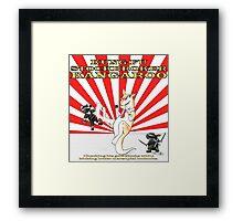 Kung-Fu Stockbroker Kangaroo Framed Print