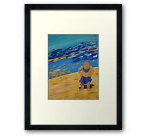 Mr.Wet pants Framed Print