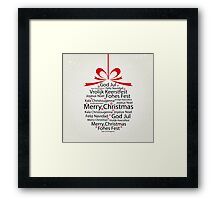 Typography Xmas ball Framed Print
